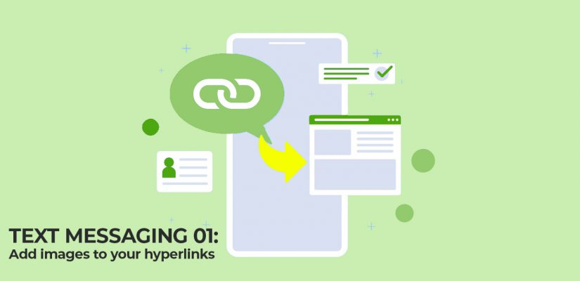 How to display a picture from hyperlinks in text messaging