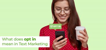What does opt mean in text marketing?